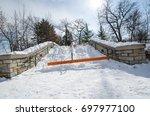 walking path to the minnehaha... | Shutterstock . vector #697977100