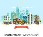 city landscape. modern... | Shutterstock .eps vector #697978354