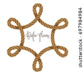 rope vector frame  may use for... | Shutterstock .eps vector #697984984