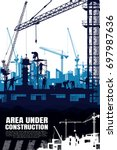 construction vector background. | Shutterstock .eps vector #697987636