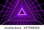 80's retro style background... | Shutterstock . vector #697988500