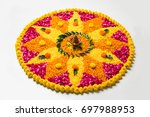 flower rangoli for diwali or... | Shutterstock . vector #697988953