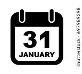 january 31.calendar icon. no... | Shutterstock .eps vector #697989298