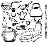 cookware | Shutterstock .eps vector #697993588