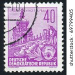germany   circa 1957  stamp... | Shutterstock . vector #69799405