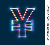 yen  yuan sign. multicolor...