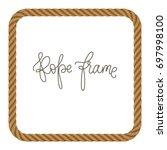 rope vector frame in shape of ... | Shutterstock .eps vector #697998100