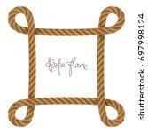 rope vector frame in shape of ... | Shutterstock .eps vector #697998124