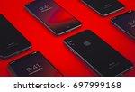cupertino  usa   17 august 2017 ... | Shutterstock . vector #697999168