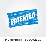 patented. pen marker. blue... | Shutterstock .eps vector #698002126