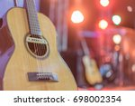 Close Up Yellow Acoustic Guita...