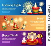 festival of lights diwali... | Shutterstock .eps vector #698010529