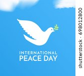 international peace day. peace... | Shutterstock .eps vector #698012800