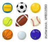 sport equipment. different... | Shutterstock . vector #698013583