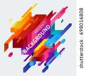 minimalistic design  creative... | Shutterstock .eps vector #698016808