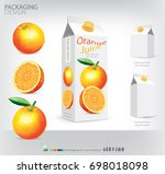 orange juice packaging design... | Shutterstock .eps vector #698018098