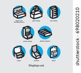 displays set _point of sales... | Shutterstock .eps vector #698020210