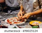 italian food cooking pizza | Shutterstock . vector #698025124