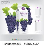 packaging design grape juice... | Shutterstock .eps vector #698025664