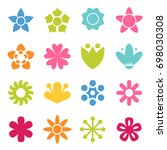 flower icon collection in flat... | Shutterstock .eps vector #698030308
