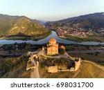 jvary monastery near mtskheta ... | Shutterstock . vector #698031700