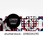 modern 3d ring composition in... | Shutterstock .eps vector #698034190