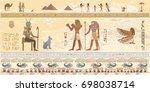 egyptian gods and pharaohs in...