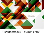 triangle pattern design... | Shutterstock .eps vector #698041789