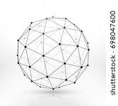 wireframe globe sphere ...   Shutterstock . vector #698047600