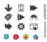 arrow icons. next navigation... | Shutterstock .eps vector #698048998
