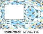 horizontal colorful mosaic...   Shutterstock . vector #698063146