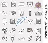 education line icon set | Shutterstock .eps vector #698063176