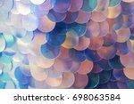 irridescent sequins macro | Shutterstock . vector #698063584
