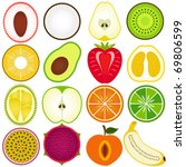 vector of fresh fruit ... | Shutterstock .eps vector #69806599
