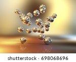 gold nanoparticles  3d...   Shutterstock . vector #698068696