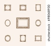 hand drawn frames sketches set. ... | Shutterstock .eps vector #698068930
