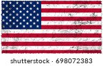 united states of america flag... | Shutterstock . vector #698072383