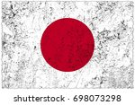japan flag grunge background.... | Shutterstock . vector #698073298