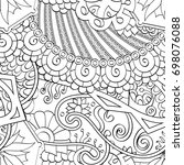 tracery seamless pattern.... | Shutterstock .eps vector #698076088