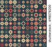 seamless floral pattern with... | Shutterstock .eps vector #698078200