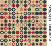 seamless floral pattern with... | Shutterstock .eps vector #698078260