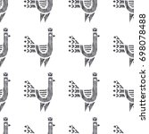 tribal indian american seamless ... | Shutterstock .eps vector #698078488