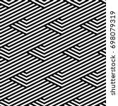 vector seamless pattern. modern ... | Shutterstock .eps vector #698079319