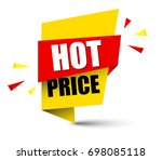 banner hot price | Shutterstock .eps vector #698085118