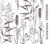 wildflowers. seamless gentle... | Shutterstock .eps vector #698086348