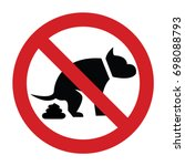 no dogs sign. | Shutterstock .eps vector #698088793
