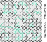 seamless geometric pattern with ... | Shutterstock .eps vector #698089120