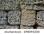 coquina background. grunge... | Shutterstock . vector #698093200