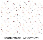 triangle circle dot pattern... | Shutterstock .eps vector #698094094