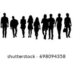 big crowds people on white... | Shutterstock . vector #698094358
